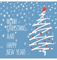 Holiday hand drawn sketch Christmas and New Year vector image