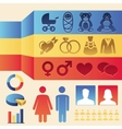 Infographics elements - man and woman vector image
