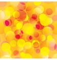 Colorful orange circles abstract light background vector image