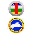 button as a symbol map CENTRAL AFRICAN REPUBLIC vector image