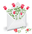 flower mail vector image vector image