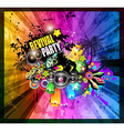 PArty Club Flyer for Music event vector image vector image