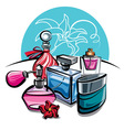 perfumes vector image
