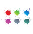 color paint splashes vector image