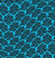 black turquoise warped damask pattern vector image