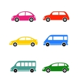 set of colorful car vector image