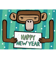 Happy New Year comic monkey vector image