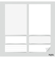 Collection of various white papers paper sheets vector image