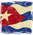Cuba grunge flag vector image vector image