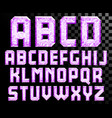 alphabet of crystal letters vector image