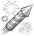Doodle fireworks vector image