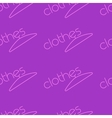 Fashion seamless background clothes text for vector image