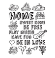 Home family relations icons black and white vector image