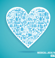 medical heart blue vector image