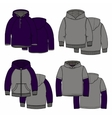 Purple hoodies vector image
