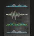 set of colored sound waves equalizer design vector image