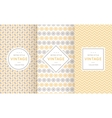Soft different seamless patterns vector image