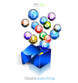 Cloud computing background vector image vector image
