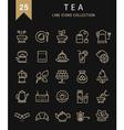 Tea Line Icons 9 vector image