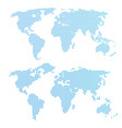 world map in dots blue color vector image