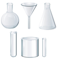 Different laboratory equipments vector image vector image