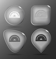 Protractor Glass buttons vector image