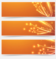 Bright cable bandwidth speed swoosh header vector image