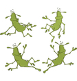 A set of cockroaches cartoon vector image