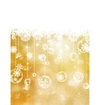 Christmas background with snowflakes EPS 8 vector image