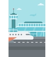 Background of airport with airplane vector image
