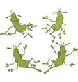A set of cockroaches cartoon vector image