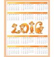 Calendar year monkey vector image