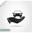 Car in Hand icon vector image