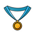 drawing medal award win sport image vector image