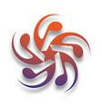 music star logo vector image