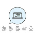 online education line icon notebook sign vector image