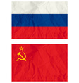 Russian flag and old USSR flag vector image