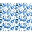 Russian national blue floral pattern vector image