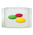A pack of sweets vector image vector image