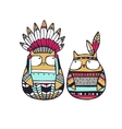 American indian owls vector image vector image