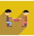 Flat web icon with long shadow business partners vector image