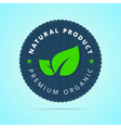 Natural product premium organic badge vector image
