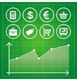 set with finance and business elements vector image
