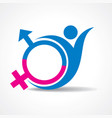 male and female icon stock vector image