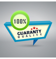 quality authentic 3d label vector image vector image