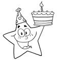 Cartoon star vector image vector image