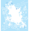 Christmas and New Year blue background vector image vector image
