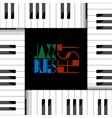creative of piano keyboard vector image vector image