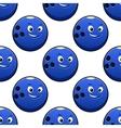 Seamless cartoon blue bowling ball characters vector image vector image