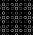 Arabic style black and white seamless pattern vector image vector image